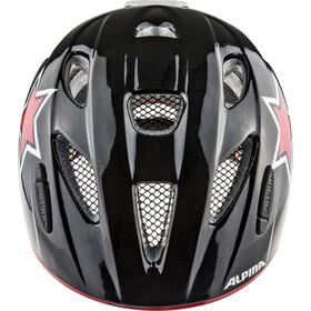 Alpina Ximo Flash Helmet Kinder black-red-white star
